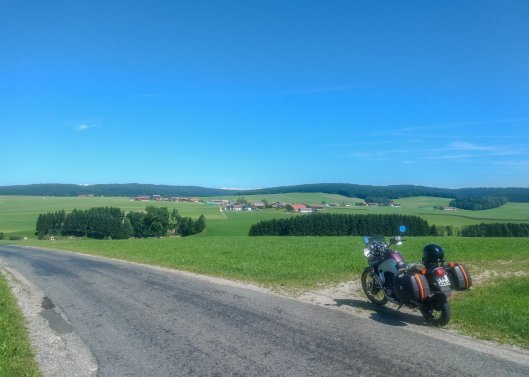 Riding Through Austria on Motorcycle