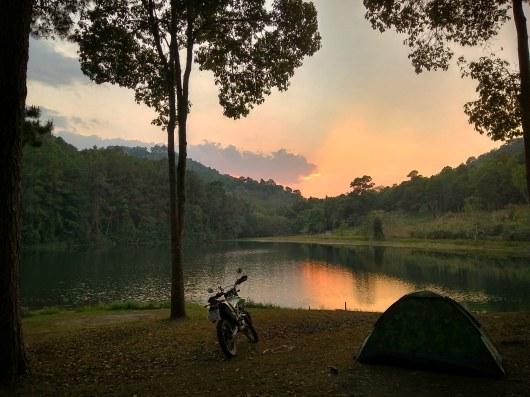 Camping At ban rak Thai, Thailand