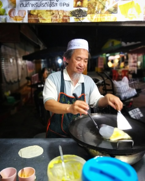 Street food Thailand -Pancake. People of thailad