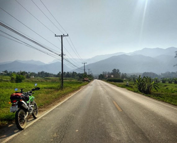 cuntryside road of Thaiand